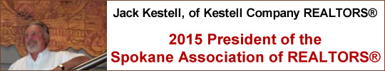 Jack Kestell, of Kestell Company REALTORS, 2015 President of the Spokane Association of REALTORS